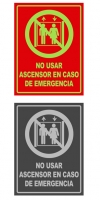 Señal info vertical ascensor
