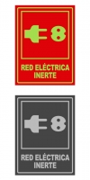 Señal info vertical red inerte