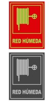 Señal info vertical red humeda